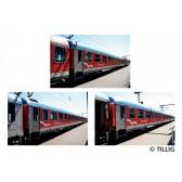 Tillig 01044 Reisezugwagenset Schleswig-Holstein-Express der DB AG, bestehend aus drei Reisezugwagen, Ep. V
