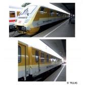 Tillig 01045 Bahndienstwagenset Gleismesszug der DB Netz Instandhaltung, bestehend aus einem Steuerwagen und einem Messwagen, Ep. VI
