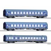 """Tillig 01723 Reisezugwagenset """"Tourex 3"""" der DR, bestehend aus drei verschiedenen Reisezugwagen Typ B, Ep. IV"""