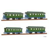 Tillig 01728 Reisezugwagenset der DB, bestehend aus vier Reisezugwagen (1x Bci, 2x Ci, 1x CPwi) , Ep. III -FORMNEUHEIT-
