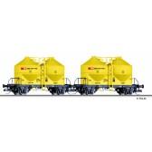 Tillig 01765 Güterwagenset der SBB, bestehend aus zwei Staubsilowagen Ucs, Ep. IV