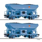 Tillig 01767 Güterwagenset der hvle, bestehend aus zwei Selbstentladewagen Fcs, Ep. VI