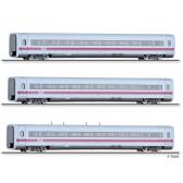 """Tillig 01773 Set """"ICE 1991"""" Teil 3 der DB, bestehend aus einem 1. Klasse Reisezugwagen, einem 2. Klasse Reisezugwagen und einem Servicewagen, Ep. IV"""