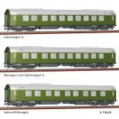 """Tillig 01778 Reisezugwagenset """"Salonwagenzug 2"""" der DR, bestehend aus Salonwagen A, Beiwagen zu Salonwagen A und Salon-Schlafwagen, Ep. IV"""