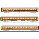 Tillig 01779 Reisezugwagenset der LOCOMORE, bestehend aus drei Personenwagen, Ep. VI