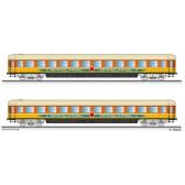 """Tillig 01783 Reisezugwagenset """"Apfelpfeil"""" der DB, bestehend aus zwei Liegewagen, Ep. IV"""
