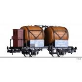 Tillig 76763 Weinfasswagen O. Frey & Cie. Weinimporte, eingestellt bei den SBB, Ep. III -FORMVARIANTE-