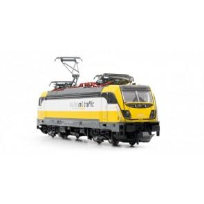 "Arnold HN2341 Mehrsystem-Elektrolokomotive 487 001 der Swiss Rail Traffic (SRT) mit Dieselmotor (""Last-Mile-Paket"")"