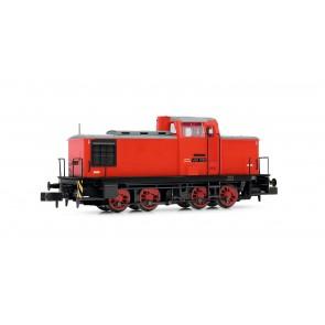 Arnold HN2354 Diesellokomotive Baureihe V60D der DR in rot/grauer Lackierung