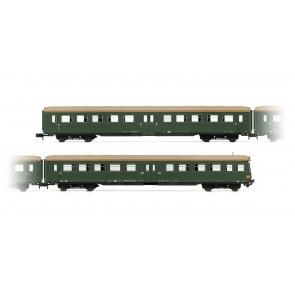 """Arnold HN4247 2-teiliges Wagen-Set(1 x Steuerwg.) """"Lowa E5"""", chromoxidgrüne Lackierung mit braunem Dach"""