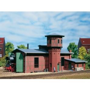 Auhagen 11400 Lokschuppen mit Wasserturm