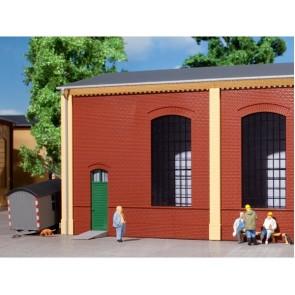 Auhagen 80502 Wände 2325B rot, Industriefenster E