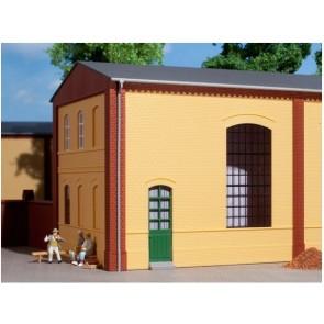 Auhagen 80602 Wände 2325B gelb, Industriefenster E