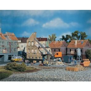Faller 130466 Abbruchhaus mit Bagger