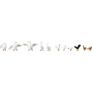 Faller 154010 Hühner und Gänse
