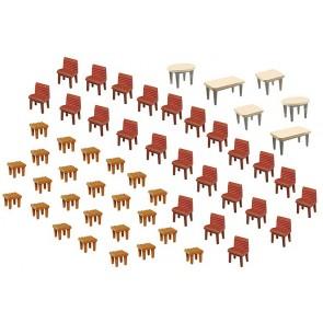 Faller 180438 7 Tische und 48 Stühle
