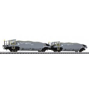 Liliput 230109 Schotterwagen-Set, beladen mit Schotter, SBB, Ep.VI