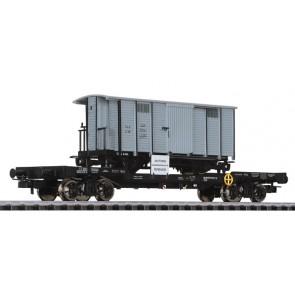 Liliput 235789 4-achs.Transportwagen m.H0e Güterwagen G166 StLB, ÖBB, Ep.V