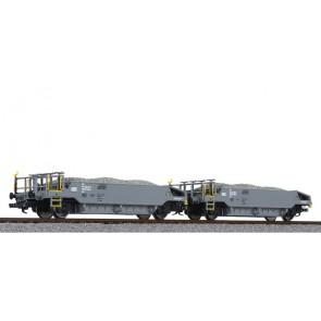 Liliput L230111 Schotterwagen-Set, beladen mit Schotter, BLS, Ep.VI