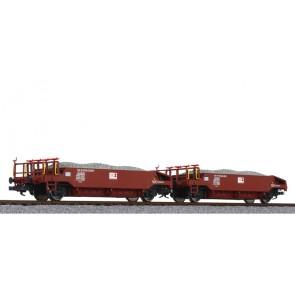 Liliput L230113 Schotterwagen-Set, beladen mit Schotter, SOB, Ep.VI