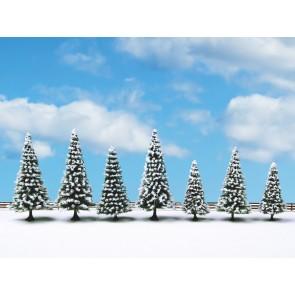 Noch 25087 Schneetannen, 7 Stück, 8 - 12 cm hoch
