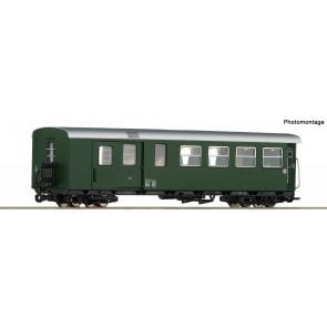 Roco 34033 H0e-Personenwagen/Gep. 2.Kl. grün