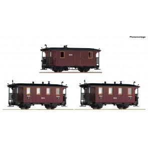 Roco 34043 3-tlg.Set: RüKB Wagen,braun
