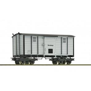 Roco 34065 H0e Materialwagen 4a. Waldb. grün