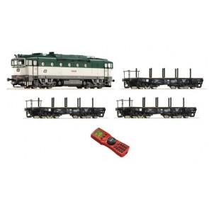 Roco 35011 Digiset:DiesellokRh750+GZ