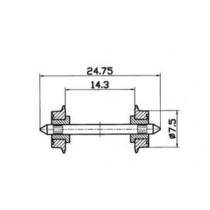 Roco 40189 Radsatz 7,5mm isoliert