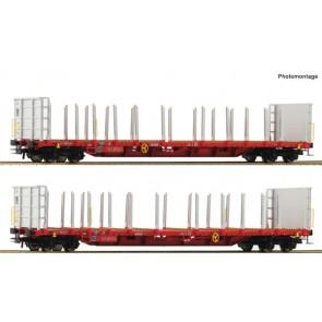 Roco 76142 2-tlg. Set: Rungenwagen, RCW epoche 6
