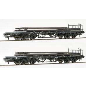 Roco 76196 Set Rungenwagen Schienenbeladung