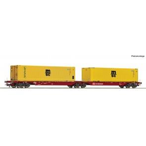 Roco 76630 Doppeltwagen DB Schenker+MSC