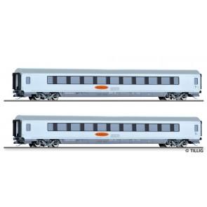 Tillig 01024 Reisezugwagenset Metropolitan 3 der DB AG, bestehend aus zwei Reisezugwagen, Ep. V