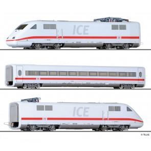 """Tillig 01369 Set """"ICE-S Messzug"""" der DB AG, bestehend aus zwei Triebköpfen und einem 2. Klasse Reisezugwagen, Ep. VI"""
