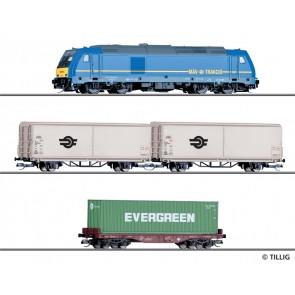 Tillig 01500 Einsteigerset-Güterzug mit Bettungsgleisoval der MAV, Ep. VI