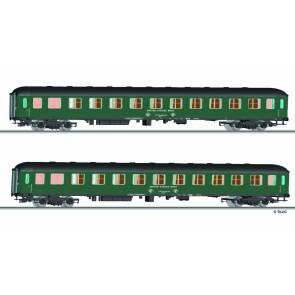 Tillig 01692 Reisezugwagenset USTC-Militärzug 1 der DB, bestehend aus zwei Liegewagen, Ep. IV