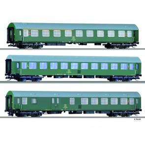 Tillig 01697 Reisezugwagenset der OSE, bestehend aus drei Reisezugwagen, Typ Y/B 70, Ep. IV