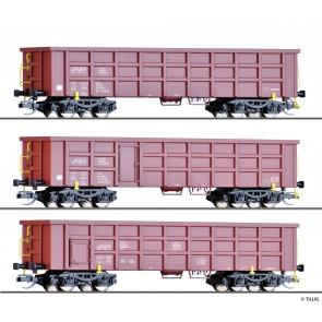 Tillig 01714 Güterwagenset der On Rail GmbH, bestehend aus drei offenen Güterwagen Eaos, Ep. VI
