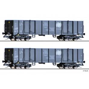 Tillig 01797 Güterwagenset der CTL Logistics (PL), bestehend aus zwei offenen Güterwagen Eaos, Ep. VI