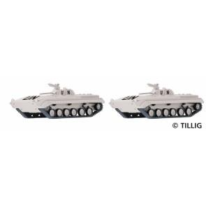 Tillig 07746 Set mit zwei Schützenpanzern BMP-1 United Nations