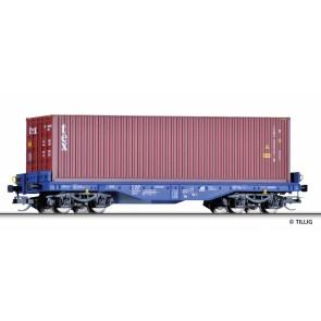 Tillig 15150 Flachwagen Sgmmns 4505 der ERR, mit Beladung, Ep. VI