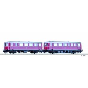 Tillig 70091 Digital-Einsteiger-Set: Triebwagen VT 70.9 (Sound) mit Beiwagen VB 140 mit Elitegleisoval der DB, Ep. III